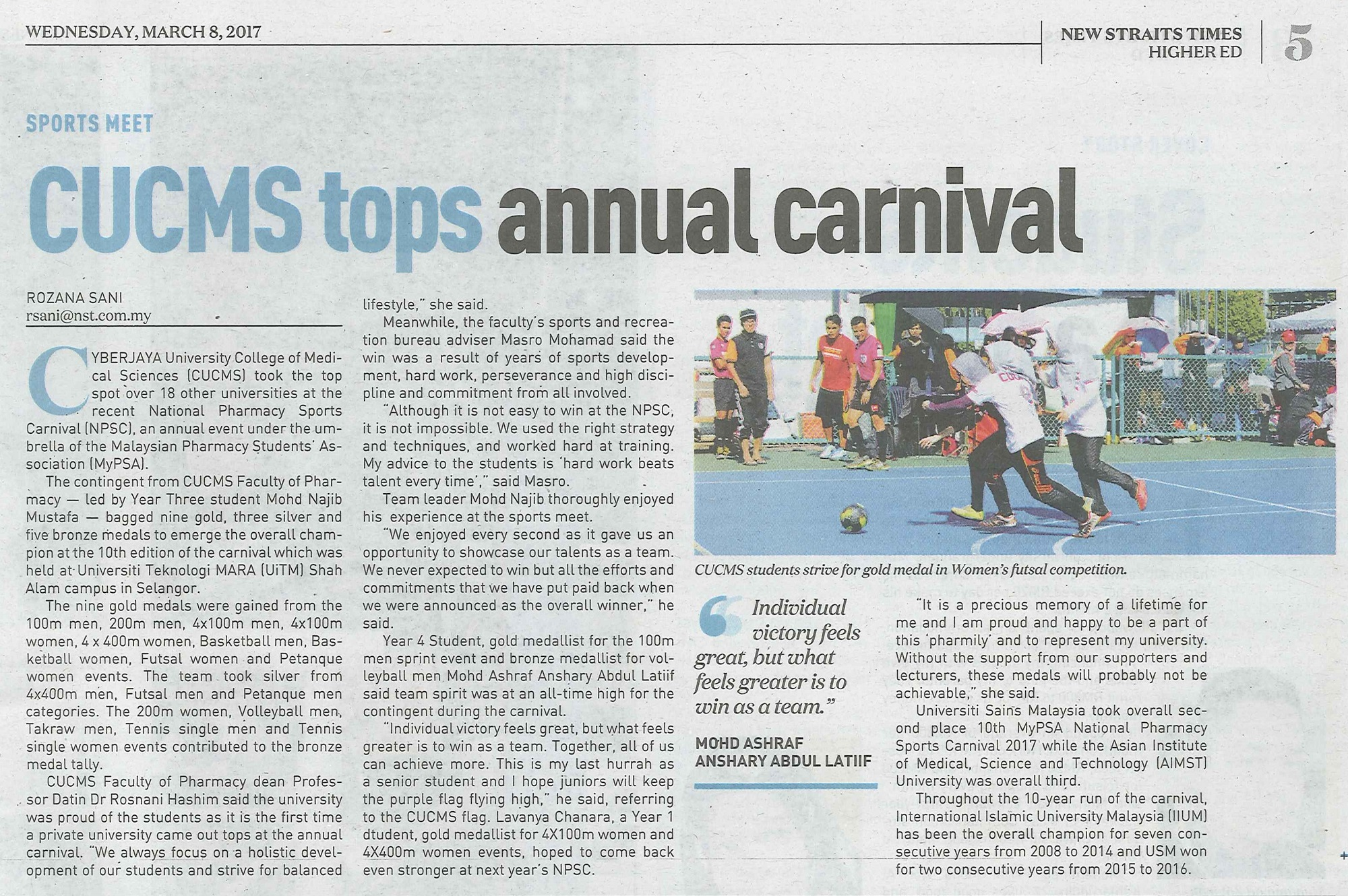 NST_CUCMS Tops Annual Carnival_5March2017