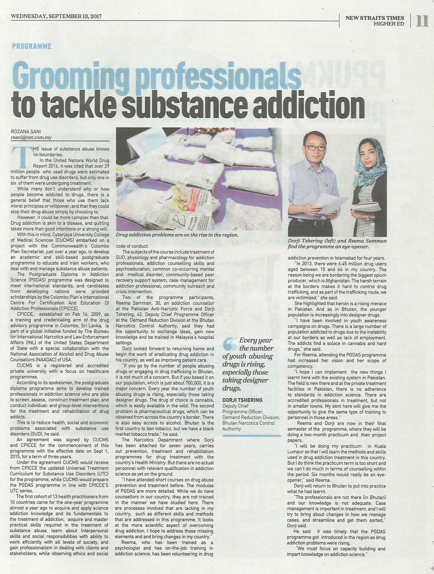 NST-Grooming-professionals-to-tackle-substance-addiction-13-Sep-2017